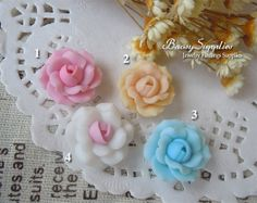 6pcs 16mm Polymer Clay flowers FIMO flowers Straight by baosy, $2.99
