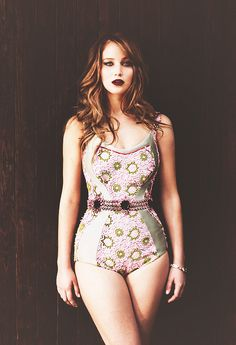 """In Hollywood, I'm obese. I'm considered a fat actress. I'm Val Kilmer in that one picture on the beach. I eat like a caveman. I'll be the only actress who doesn't have anorexia rumors.""    ~ Jennifer Shrader Lawrence, who plays Katniss Everdeen in The Hunger Games"