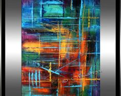 Decorate your home and office with the most unique and the best quality abstract painting made by Maitreyii Fine Art.  More paintings available here: http://www.etsy.com/shop/largeartwork  =============================================================   TITLE: Beneath the Earth   SIZE: 60 x 32 x (UN- Stretched Canvas, Painting will be shipped rolled inside a tube) ========================================================  ((((((((((((((((( CONTACT ME ))))))))))))))))))…