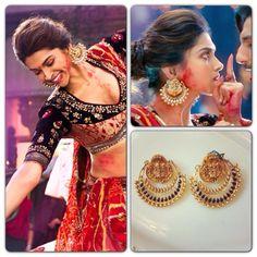 Latest Fashion - Ram Leela Earrings #Deepika #RamLeela #BollywoodFashion #bollywood