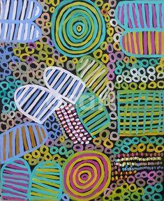 Awelye by Betty Mbitjana synthetic polymer on canvas, 100cm x 80cm
