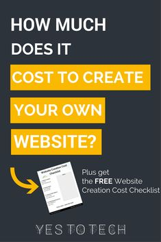How Much Does It Cost To Create Your Own Website? Are you ready to create your own website? Awesome! Since not knowing how much you need to invest upfront is likely to give you a headache, here are all the software and tech costs you will incur when you are just getting started.