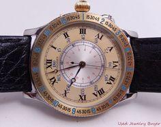 Longines Charles Lindbergh 2 Tone Hour Angle Mens Watch Ref. 989.5215 #Longines #Luxury
