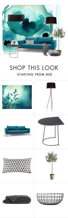 turquoise dream by izabelasz on Polyvore featuring interior, interiors, interior design, home, home decor, interior decorating, Muuto, John Robshaw, Menu and Marimekko