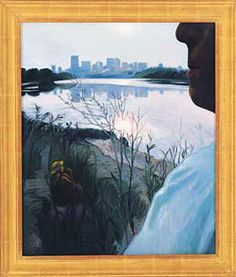 """a painting by Joni Mitchell called """"Edmonton"""" Joni Mitchell Paintings, Vanilla Sky, Glass Building, Long Time Friends, Artsy Fartsy, Landscape Paintings, Skyline, Tapestry, Artwork"""