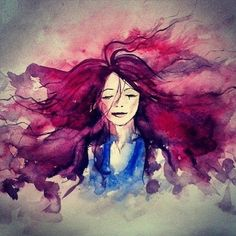 color, illustration, watercolor, cartoon, hair, cbdsalon
