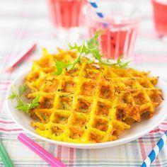 Gaufre aux légumes (pomme de terre, carotte, courgette) - Cuisine Actuelle