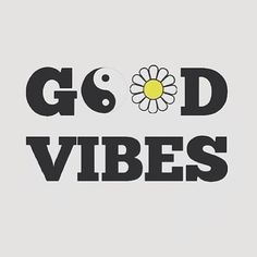 Good Vibes - Hippie - Positive Energy - Peace - Daisy