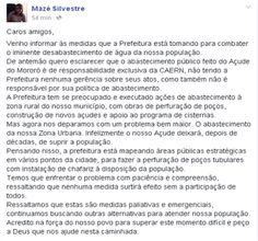 RN POLITICA EM DIA: DO FACEBOOK DE MAZÉ SILVESTRE...