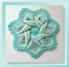 Pattern Review - Flower Hotpad by Cylinda of Crochet Memories | Featured on @beckastreasures Saturday Link Party with @crochetmemories!