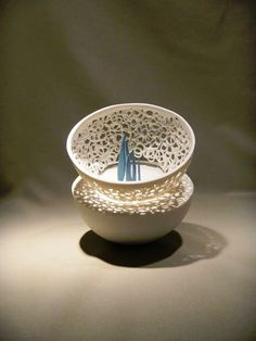 2013 Argilla France. International pottery fair. Porcelain. Bowl