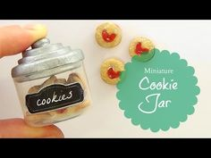 DIY Miniature cookies and jar | Dollhouse DIY - YouTube