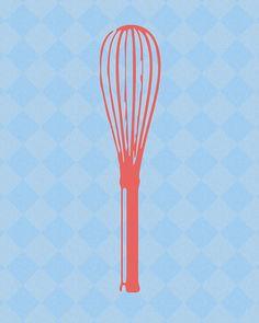 8x10 Art Print   Whisk  Kitchen Print by GreySheepGallery on Etsy, $5.00