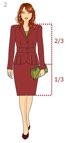 Пропорция в одежде 2/3 + 1/3 юбка