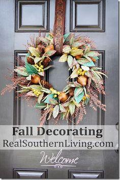 Fall Front Door Decorating