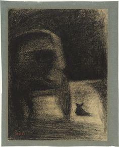 Georges-Pierre Seurat Carriage and Dog (La Carriole et le chien) ca. Statues, Georges Seurat, Pierre Bonnard, Chalk Drawings, Pointillism, Chiaroscuro, Sculpture, Museum Of Modern Art, Gravure