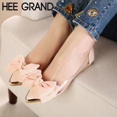 2015 New Spring Summer Sweet Women Flats,Pointed Sequined Toe with Big Bowtie Shoes for Women,Casual Shoes Free Shipping XWD670-in Women's Flats from Shoes on Aliexpress.com | Alibaba Group