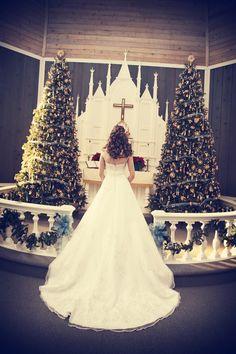 A Christmas wedding. Photo by Ashley B.  #minneapolisweddingphotographer #winterwedding #bride #christmaswedding