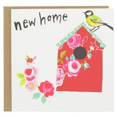 Beautiful new home card with red birdhouse from Paperchase. #cards #greetingcards #newhomecards