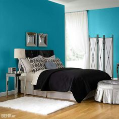It was the first bedroom that popped out at me as appealing though I also wonder if light blue is just choosing the easy way ... & Blue Painted Room Inspiration \u0026 Project Idea Gallery | Behr ...