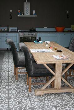 Cementtiles kitchen - Gris 03 Taupe - Project van Designtegels.nl