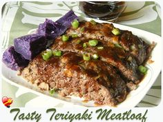 This tasty Teriyaki Meatloaf recipe has just the right amount of sweetness to your ground beef. Get more delicious local style recipes here. Meatloaf Recipes, Beef Recipes, Cooking Recipes, Meatball Recipes, Hamburger Dishes, Beef Dishes, Ono Kine Recipes, Samoan Food, Recipes