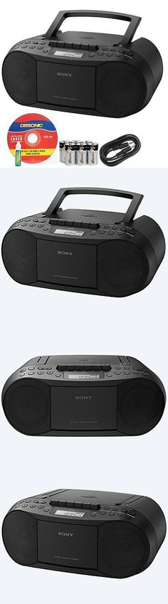 Portable Stereos Boomboxes: Sony Compact Portable Stereo Sound System Boombox With Mp3 Cd Player Am/Fm Radio BUY IT NOW ONLY: $79.95