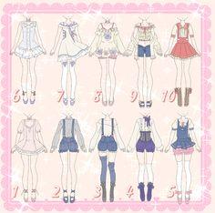 Cutie Outfit Adoptables [CLOSED] by MelonCandies.deviantart.com on @DeviantArt