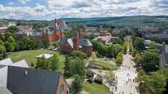 Cornell College- View of Ho Plaza looking south from atop McGraw Tower