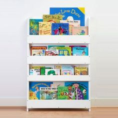 the tidy books childrens bookcase in white perfect book display and storage for your children - Kid Bookshelves