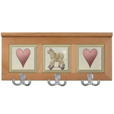 Pony & Hearts Coat Rack For Kids Room