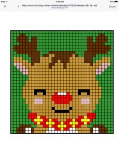 Deer reindeer cross stitch.