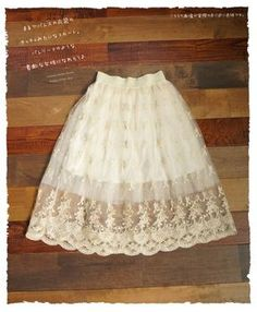 Rakuten: The tutu skirt which light glitters.  A hem is the girly item of adult in the delicate Tulle race that it became the scallop shell cut. Embroidery of the gold which it is delicate for soft Jyr, and is fantastic. (impossibility) forest ガ - ル- Shopping Japanese products from Japan