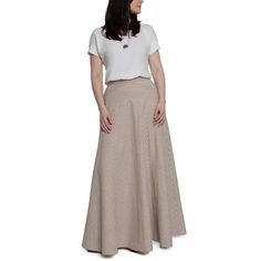 Sewing the Gabriola Skirt in Striped Fabric via Sewaholic