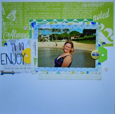 Layout by Stephanie from Skyline Paperie, using the September 2014 kit from @cliquekits  .. #scrapbooking #cliquekits