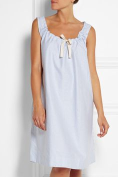 The Sleep Shirt | Striped cotton Oxford nightdress | NET-A-PORTER.COM