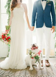 floral collar for wedding dog ---//--> 15 cute ways to get your dog wedding ready | doggie aisle style!