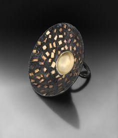 Ring | Gigi Mariani Gioielli. Oxidized sterling silver, yellow gold