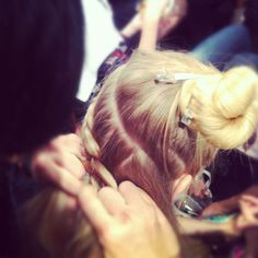 Serious braiding going on backstage @Tracy_Reese!  #tresmbfw @Mercedes-Benz Fashion Week #FashionWeek #NewYork #mbfw #NYC