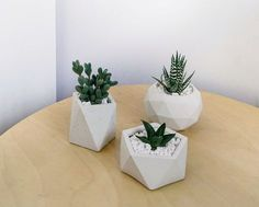 Send Hand Craft Geometric Concrete Planter with Succulent (white) in Boston, MA from Sunny Florists, the best florist in Boston. All flowers are hand delivered and same day delivery may be available. Fake Plants Decor, Plant Decor, Artificial Cactus, Fern Wedding, Cement Crafts, Concrete Planters, Interior Plants, Flower Pots, Flowers Vase