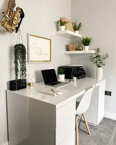Cozy Home Office, Home Office Design, Home Office Decor, House Design, Office Desk, Study Room Decor, Room Ideas Bedroom, Bedroom Decor, My New Room