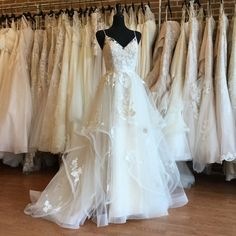 White Weddings Bridal - Flirty, feminine and fit for a princess, a ball gown made from cascading layers of butterfly lace on tulle. Perfect Wedding Dress, Stunning Wedding Dresses, Dream Wedding Dresses, Wedding Dress Styles, Wedding Gowns, Wedding Day, Lace Wedding, Mermaid Wedding, Wedding Favors