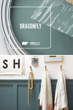 DIY Board & Batten Accent Wall See how to spruce up your guest bathroom by learning how to build a modern Board and Batten Accent wall treatment and a gorgeous deep teal paint color!