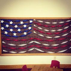 Simple Patriotic Bulletin Board Idea