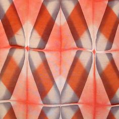 """Unique folding and clamping pattern by Ana Lisa Hedstrom. From the workshop """"Itajime Shibori"""" featuring Ana Lisa Hedstrom."""