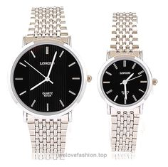 Fashion His or Hers Black Waterproof Stainless Steel Quartz Wrist Watch for Men Women Couple Watches  BUY NOW     $33.89    Gender Couple's  Movement Quartz,  Type Fashion Watch,  316L Stainless Steel strap  Men Case Diameter Approx (cm) 3.8,  Women Case Diameter Approx (cm) 2.8,   Men Band Length Approx (cm) 24,  Women Band Length Appro ..