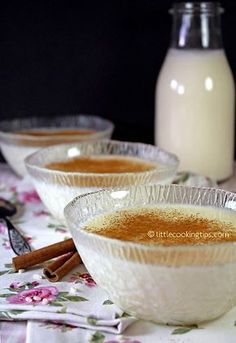 Rizogalo: Creamy Greek Rice Pudding with (chios mastic) Davis-Reid Cooking Tips Rice Desserts, Desserts To Make, Food To Make, Dessert Recipes, Appetizer Recipes, Breakfast Recipes, Greek Sweets, Greek Desserts, Greek Recipes