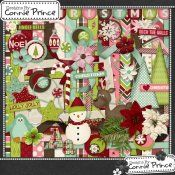 $5.49 I Heart Christmas - Kit by Connie Prince. Coordinates with my entire I Heart Christmas collection! Kit includes: 16 patterned papers & 7 solids, 1 banner (with & without Christmas written on it), 3 peppermint candies, 1 candycane, 4 circle coasters, 3 star cookies, 3 curly ribbons, 1 reindeer, 1 flourish, 7 flowers, 2 frames, 5 labels, 1 journal mat, 3 ornaments, 1 penguin, 1 pine bough, 3 straight ribbons, 2 snowfales, 1 snowy scatter, 1 snowman, 2 strings, 2 trees..