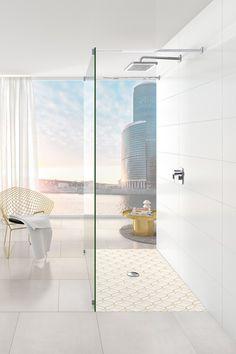 My shower. My look con Subway Infinity. Nuevo diseño para los platos de ducha Subway Infinity con decoración ViPrint #SubwayInfiniy #ViPrint #Ducha #tecnilogiadeimpresion #ceramica #iFDesignAward #RedDotDesign