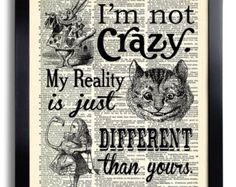 Ich habe Gone Mad Angebote Alice in Wonderland von PrintsVariete
